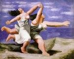Deux femmes courant sur la plage (La course). Summer. Picasso, 1922
