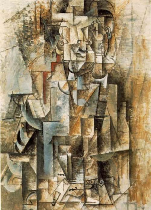 Homme a la guitare. Spring 1912. Pablo Picasso