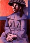 Jeune fille au chapeau les mains croisees. 1920-21. Picasso