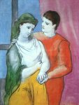 Les amoreux. Pablo Picasso. 1923. 130.2 x 97.2 cm. Oil on canvas.