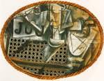 Nature morte a la chaise cannee. Summer 1912. Pablo Picasso