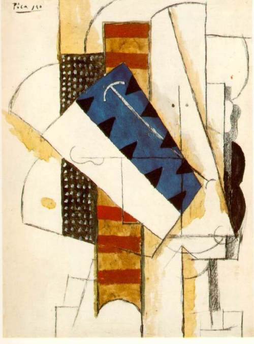 Tete d'homme. Spring 1913. Pablo Picasso