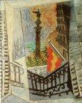 Vue sur le monument de Colomb. 1917. Pablo Picasso