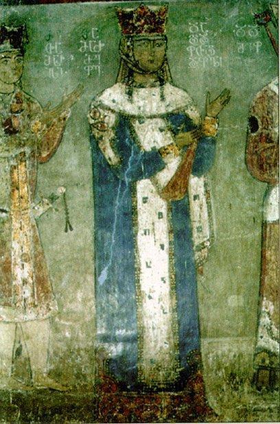 თამარ მეფე, ბეთანიის მონასტრის ფრესკა