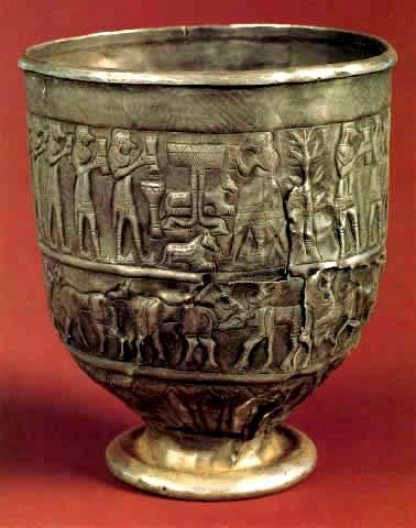 ვერცხლის თასი. თრიალეთის კულტურა (ძვ.წ II ათას. დასაწყისი)