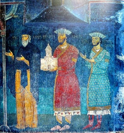 ჯაყელები, საფარას მონასტრის ფრესკა