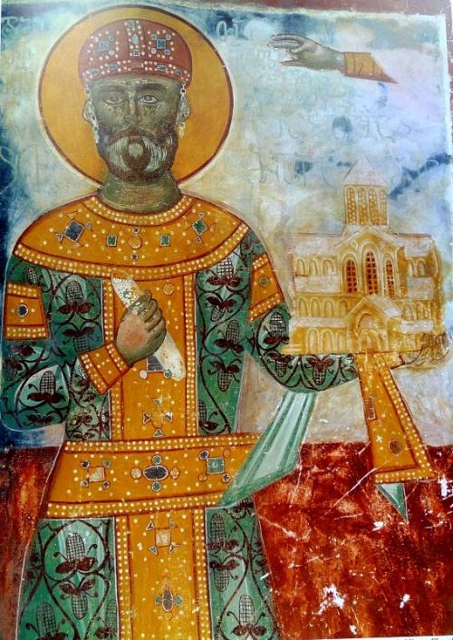 გელათი. ღმრთისმშობლის ტაძარი. ჩრდილოეთი კედელი. ფრაგმენტი. დავით IV აღმაშენებელი. XVI საუკუნე