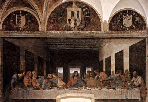 ლეონარდო და ვინჩი – საიდუმლო სერობა, მარია დელა გრაციეს ტაძარი, მილანი. Leonardo da Vinci. 1495-1498