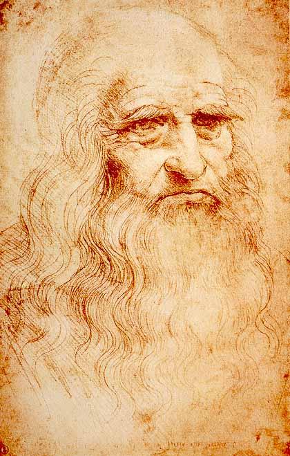 ავტოპორტრეტი - ლეონარდო და ვინჩი. Leonardo da Vinci. 1512-1515