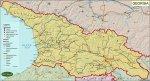 საქართველოს პოლიტიკური რუკა – Political Map of Georgia