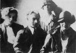 ელენე ახვლედიანი, ლადო გუდიაშვილი, ქეთევან მაღალაშვილი, რ. მდივანი (უკან)