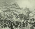 Daghestan. Passage du Soulakh a Akhatl. (1847)