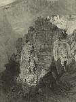 Daghestan. Rocher a Khounzak en Avarie. (1847)