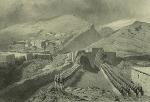 Daghestan septentrional. Tsatanykh, revue et defile de troupes Russes. (1847)