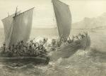 აზოვის კაზაკები  და ჩერქეზი ტყვეებით სავსე თურქების გემი (1847)