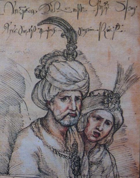 თეიმურაზ I, მეუღლესთან ხორეშანთან ერთად (კასტელის ნახატი)