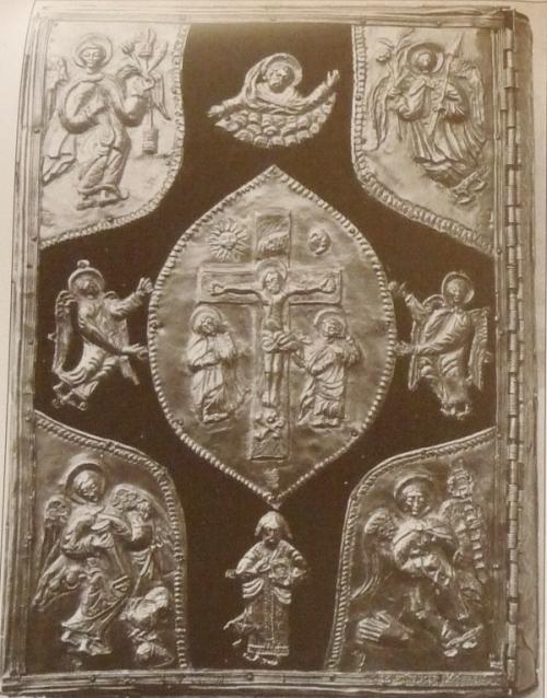 მოქვის ოთხთავის ყდა. ოთხთავი - 1300 წ. ყდა - XIX ს.