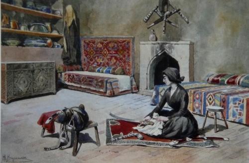 ოთარაანთ ქვრივი - ილია ჭავჭავაძე, მხატვარი ჰენრიკ ჰრინევსკი