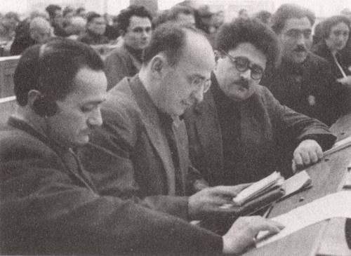 ნესტორ ლაკობა, ლავრენტი ბერია, აგაზი ხანჯიანი; Party conference, 1935 head of Abhkaz Party, Nestor Lakoba; Beria, head of Armenian Party, Agasi Khanjian