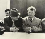 ილია ვეკუა (მარცხნივ) და ს. სობოლევი, 1961 წ.