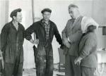 ილია ვეკუა - ნოვოსიმბირსკის სახელმწიფო უნივერსიტეტის რექტორი უნივერსიტეტის მშენებლებთან, 1960 წ.