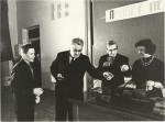 მარცხნიდან მარჯვნივ ი. ერშოვი, ილია ვეკუა. 1963 წ.