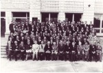 საბჭოთა-ამერიკული სიმპოზიუმის მონაწილნი, ნოვოსიმბირსკის სახელმწიფო უნივერსიტეტი, 1963 წ.