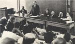 საბჭოთა-ამერიკული სიმპოზიუმის პირველი დღე, ნოვოსიმბირსკის სახელმწიფო უნივერსიტეტი, 1963 წ.