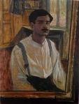 დავით კაკაბაძე - ავტოპორტრეტი სარკესთან, 1917 წ.