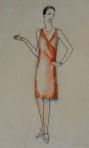 დავით კაკაბაძე - ე. ტოლერი, ჰოპლა ჩვენ ვცოცხლობთ, ქალის კოსტიუმები, ქუთაისი, საქართველოს მეორე სახელმწიფო თეატრი, 1928