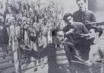 მარცხნიდან მარჯვნივ ა. ვეფხვაძე, გ. თოთიბაძე, დ. გაბიტაშვილი, კ. მახარაძე, 1952 წ.