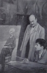 გოგი თოთიბაძე  და მ. ყიფიანი, მოსე თოიძის სახელოსნო, 1948 წ.