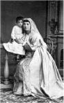 ილიას და – ნინო გრიგოლის ას. ჭავჭავაძე ქალიშვილთან ერთად (1834-1883 წწ)