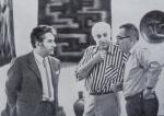 მარჯვნიდან მარცხნივ სერგო ქობულაძე, ტ. ყუბანეიშვილი, გოგი თოთიბაძე, თბილისის სამხატვრო აკადემიის მუზეუმი, 1972 წ.