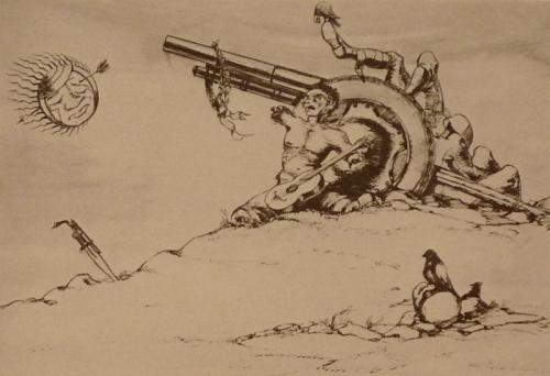 ფაშიზმის სულგრძელობა, ლადო გუდიაშვილი – Lado Gudiashvili. 1942