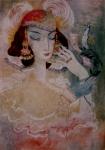 ჩუქურთმა (ქალიშვილის პორტრეტი). ლადო გუდიაშვილი – Chuqurtma. Lado Gudiashvili. 1964