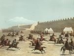 სასომხეთი, ქურთი და თათარი ცხენოსნები სარდარ-აბატის ციხესთან, 1847