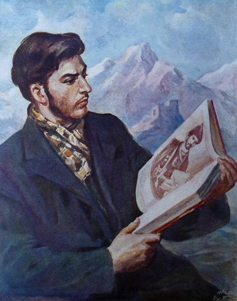 იოსებ სტალინი კითხულობს ვეფხისტყაოსანს ირაკლი თოიძე
