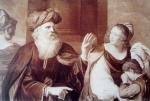 ბიბლიური სცენა. მე-19 ს-ის ფრანგული გრავიურა