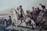 ნაპოლეონ პირველი ბრძოლის ველზე. ფრანგული გრავიურა. XIX ს.