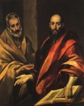 1587-92, Apostles Peter and Paul. El Greco