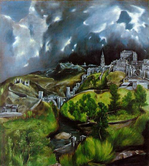 1596–1600, View of Toledo. El Greco