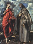1600. Saints John the Evangelist and Francis, El Greco