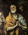 The Repentant Peter. El Greco