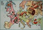 Satirical Maps of Europe, 1914