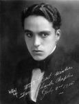 Autographed portrait of Charles Chaplin, 1915
