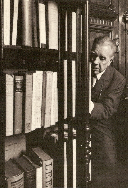 Jorge Luis Borges in the National Library of Argentina