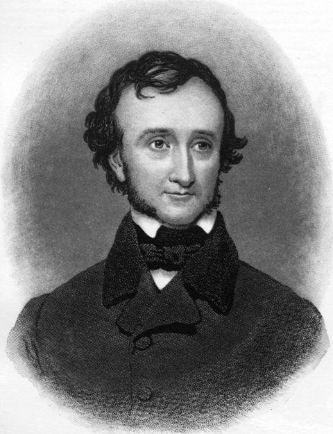 Portrait d'Edgar Allan Poe peint par Samuel Stillman Osgood dans les années 1840 (New York Historical Society)