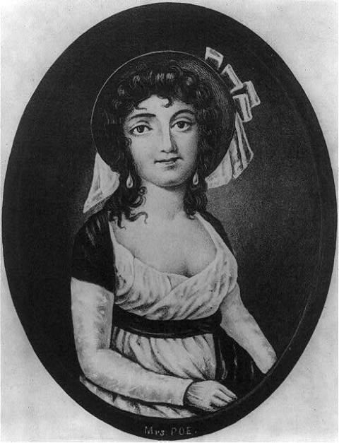 Portrait d'Elizabeth Arnold Hopkins Poe, la mère d'Edgar Allan Poe