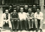 Back row, left to right Man Ray, Jean Arp, Yves Tanguy, André Breton; Front row Tristan Tzara, Salvador Dali, Paul Elourd, Max Ernst, Rene Crevel